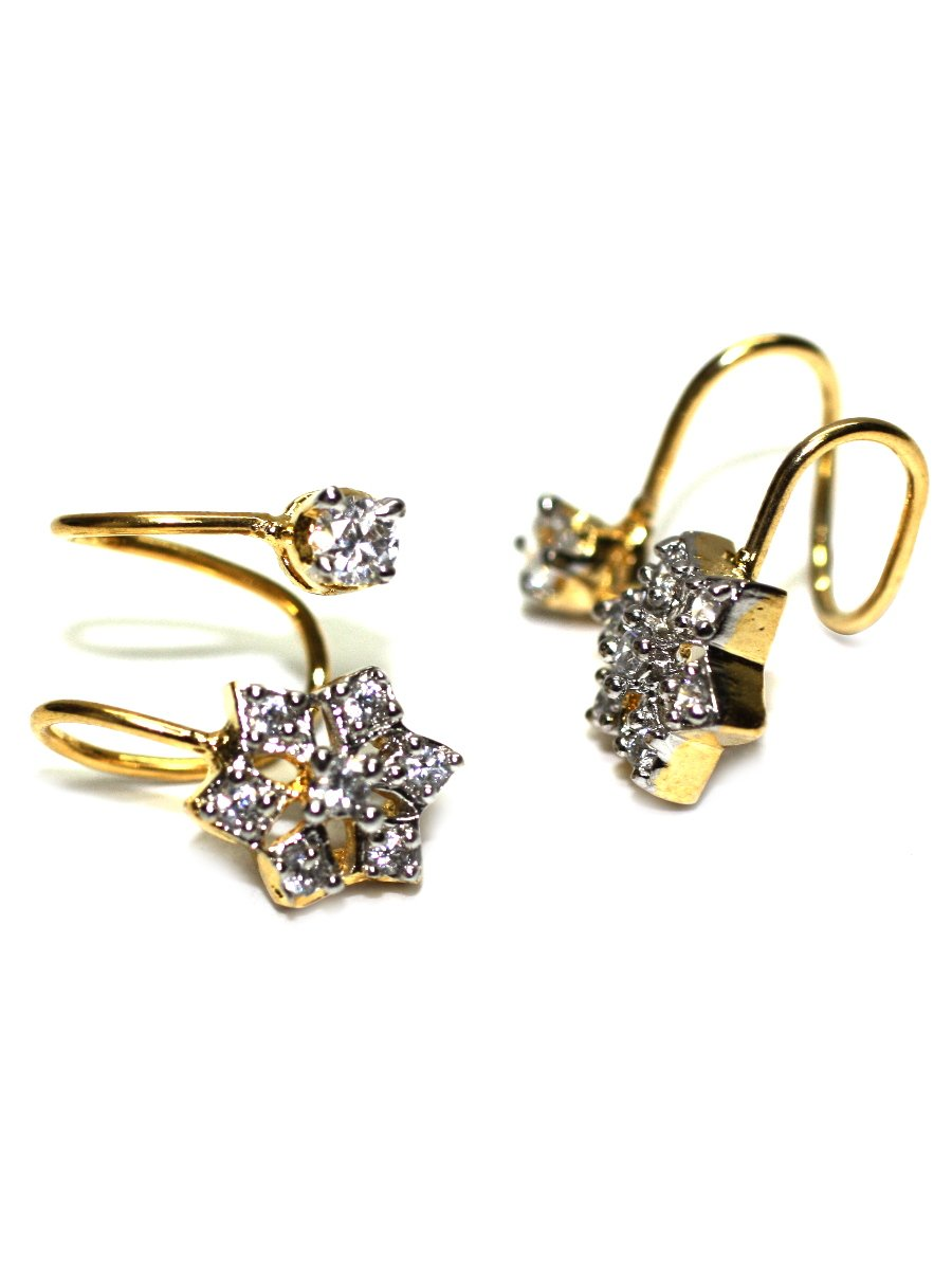 studs uncut no b earrings point earring raw studio diamond gold grey products rose rough