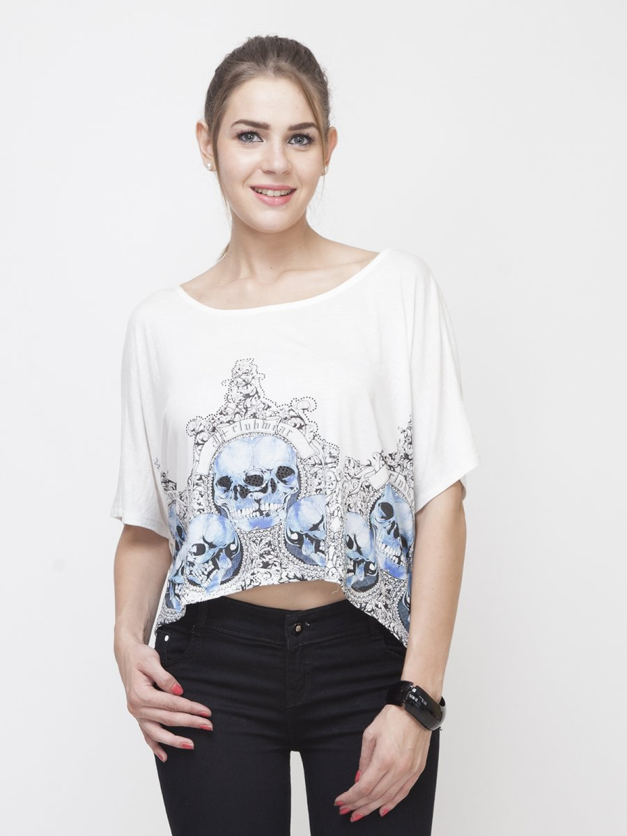 Stylish Tops Collection 2013 For Girls: Yoshe Stylish Loose Short Top