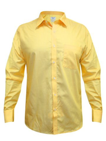 Turtle Pure Cotton Yellow Solid Shirt at cilory