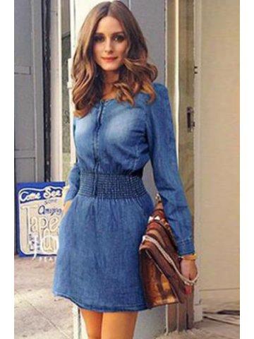 https://static8.cilory.com/159615-thickbox_default/long-sleeve-elastic-slim-waist-denim-dress.jpg