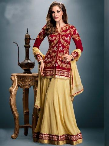https://static4.cilory.com/163787-thickbox_default/gulzar-maroon-beige-heavy-embroidered-semi-stitched-lehenga-choli.jpg