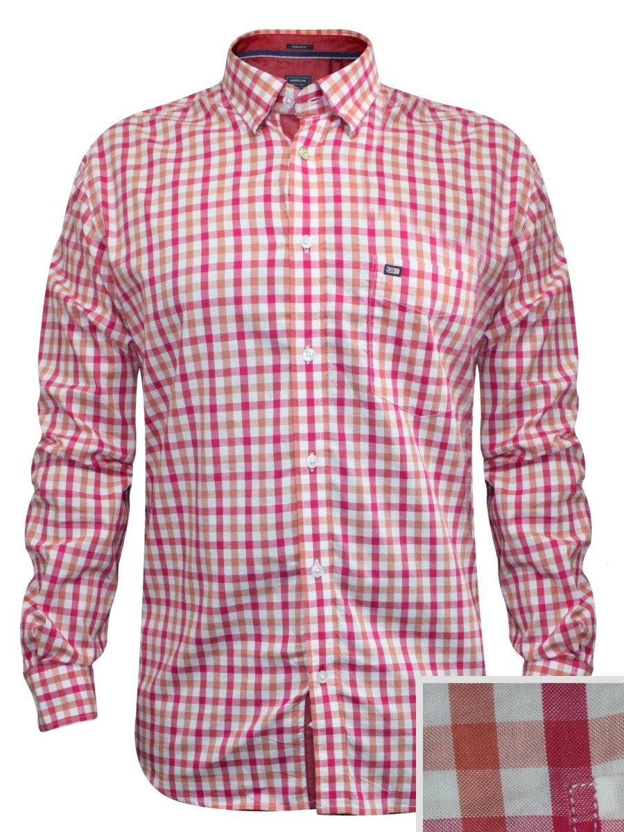 Arrow Pink Formal Check Shirt Asrs3189 Fs