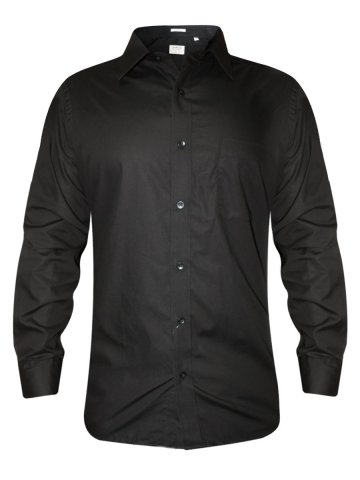 Arrow Pure Cotton Black Formal Shirt at cilory