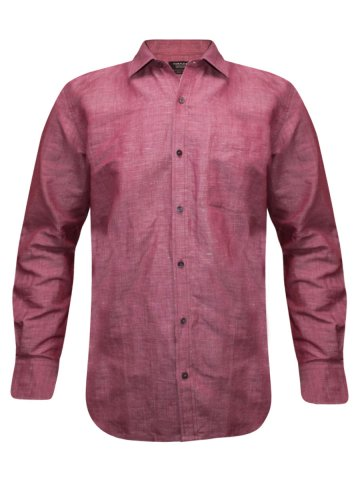 Turtle Rasp Formal Cotton Linen Regular Fit Shirt at cilory