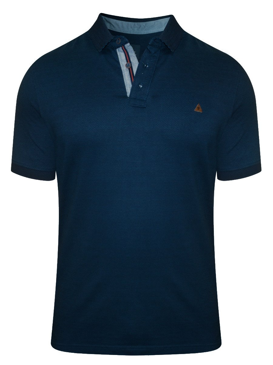 Turtle Navy Printed Polo T Shirt 35649 1001