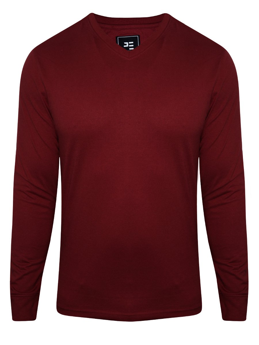 Peter England Red Full Sleeves T Shirt Ekp51603861 Fs