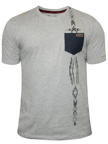 Wrangler Grey Mellange Round Neck T-Shirt at cilory