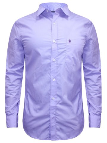 FCUK Pure Cotton Lilac Solid Formal Shirt at cilory
