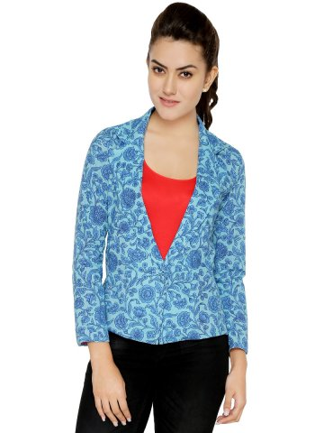 Victorian Clothing Blue Cotton Jacket at cilory