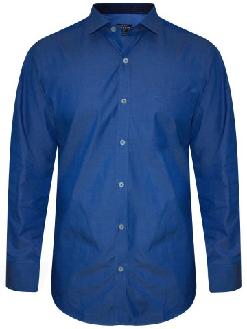 Grasim Pure Cotton Blue Shirt at cilory