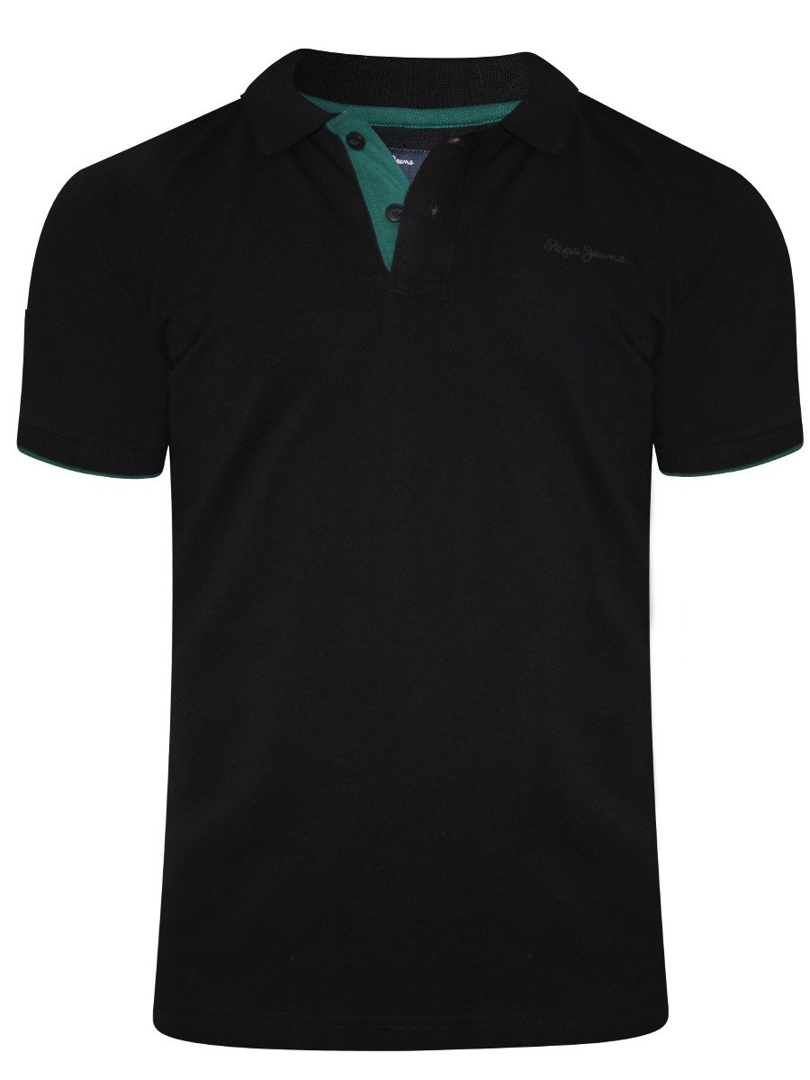 Buy T Shirts Online Pepe Jeans Black Polo T Shirt