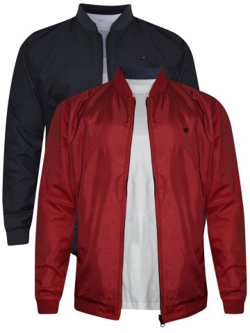 Spykar Red & Dark Grey Reversible Jacket at cilory