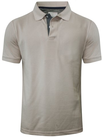 Peter England Beige Polo T-Shirt at cilory