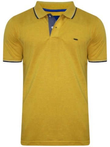 Numero Uno Mustard Polo T-Shirt at cilory
