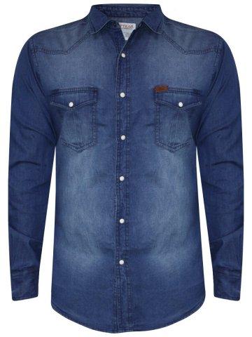 655bd792a35 ... Blue Denim Shirt.  https   static9.cilory.com 258382-thickbox default spykar-