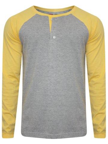 https://static3.cilory.com/263267-thickbox_default/nologo-grey-melange-yellow-raglan-sleeves-henley-tee.jpg