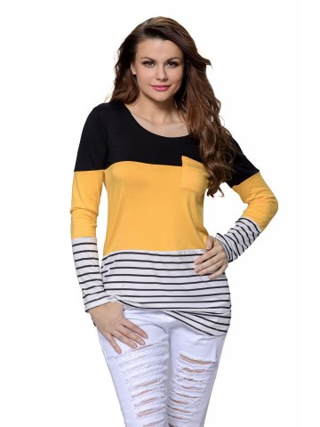 https://d38jde2cfwaolo.cloudfront.net/276372-thickbox_default/black-yellow-color-block-striped-long-sleeve-blouse-top.jpg
