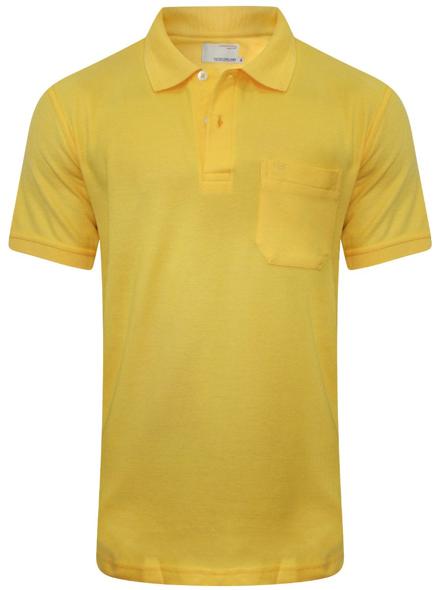 Peter England Yellow Pocket Polo T Shirt Pkw1021701787 H
