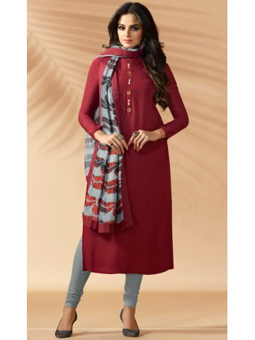 1db62deb700 ... Kurti with Printed Stole.  https   d38jde2cfwaolo.cloudfront.net 306021-thickbox default nitya-