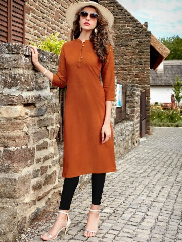 https://static6.cilory.com/309610-thickbox_default/vrinda-dark-rust-solid-cotton-kurti.jpg