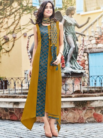 https://d38jde2cfwaolo.cloudfront.net/323500-thickbox_default/dazzle-mustard-blue-rayon-kurti-with-printed-stole.jpg