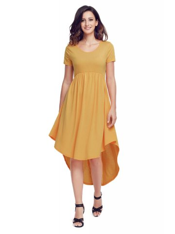 ae4dbd1d0c914 ... Pleated Casual Swing Dress.  https://static1.cilory.com/342146-thickbox_default/rufous-
