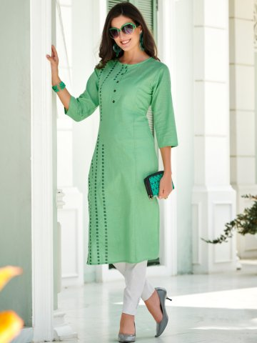 https://static6.cilory.com/392291-thickbox_default/green-embroidered-cotton-kurti.jpg