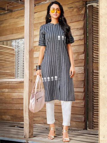 https://static8.cilory.com/403469-thickbox_default/100-miles-cotton-front-slit-kurta.jpg