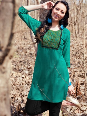https://static3.cilory.com/403661-thickbox_default/psyna-teal-embroidered-short-kurti.jpg